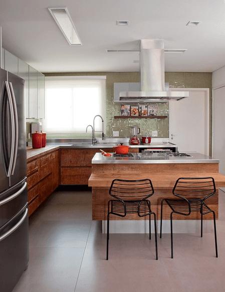Usando madeira na cozinha