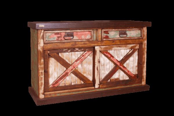 Balcão madeira porta de correr